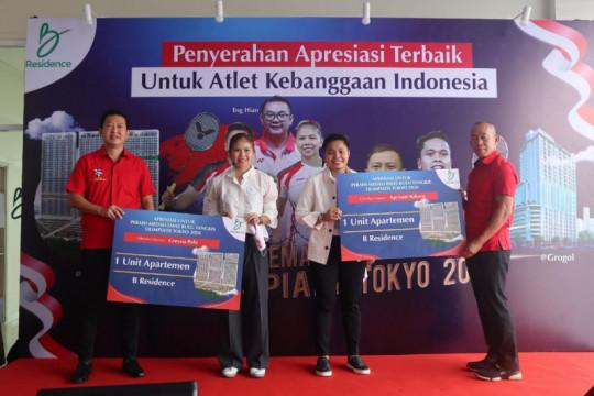 Greysia/Apriyani terima hadiah apartemen dari pengusaha mantan atlet