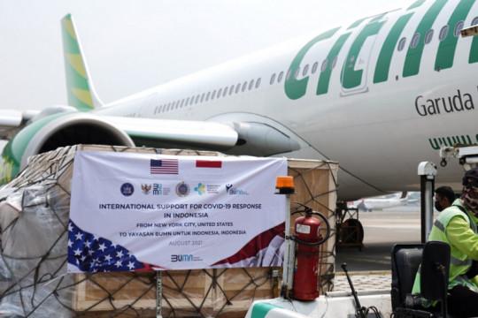 Citilink angkut bantuan kesehatan dari AS ke Indonesia