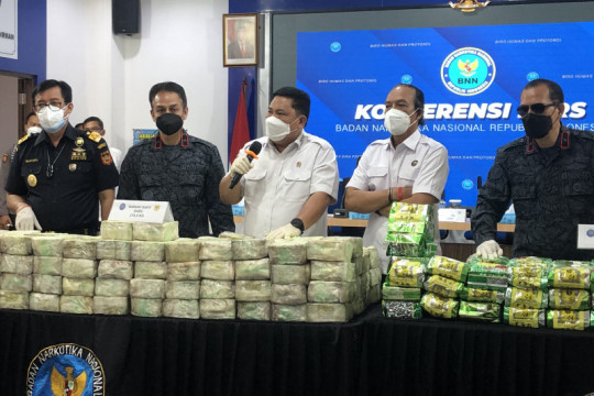 BNN gagalkan dua upaya penyelundupan 324,3 kg sabu-sabu