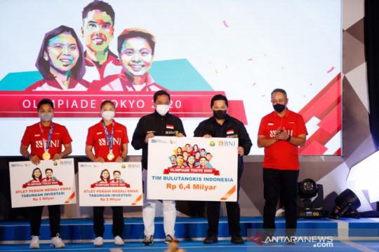 BNI apresiasi tim bulu tangkis Indonesia dengan hadiah Rp6,4 Miliar