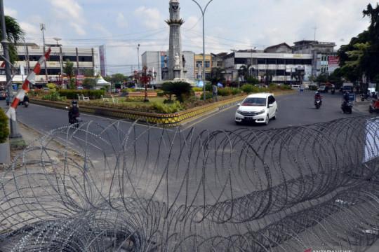 Penyekatan mobilitas warga di Kota Bandar Lampung