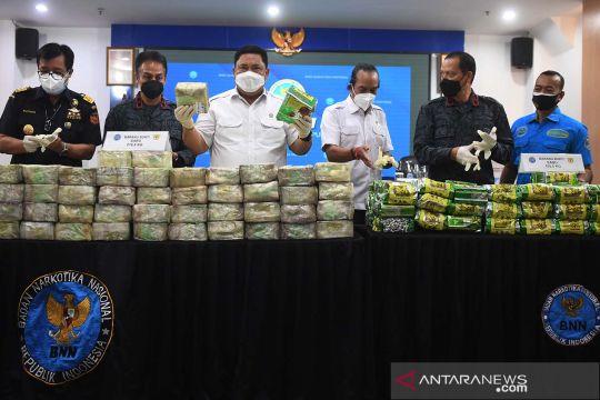 BNN gagalkan penyelundupan sabu 324,3 kg jaringan internasional