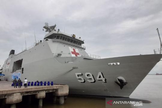 KRI Semarang-594 difungsikan jadi RS tanggulangi COVID-19 di Riau