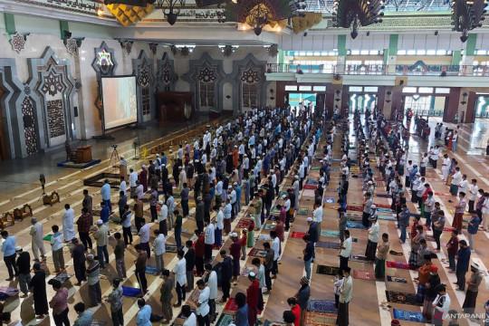 Jamaah Masjid Raya JIC terapkan prokes untuk cegah COVID-19