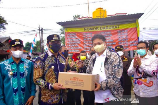 Menko Airlangga kunjungi Kalsel pantau penanganan pandemi COVID-19
