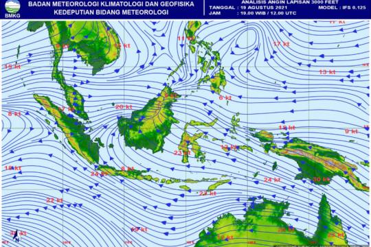 BMKG: Gangguan pola cuaca sebabkan hujan deras-angin kencang di Jambi