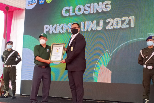 UNJ raih rekor MURI pada penutupan PKKMB 2021