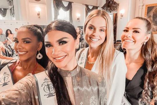 Jihane Almira kenakan 'Gambo Muba' di Miss Supranational 2021 Polandia