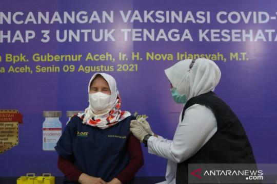 Aceh mulai suntikkan vaksin COVID-19 merek Moderna ke masyarakat