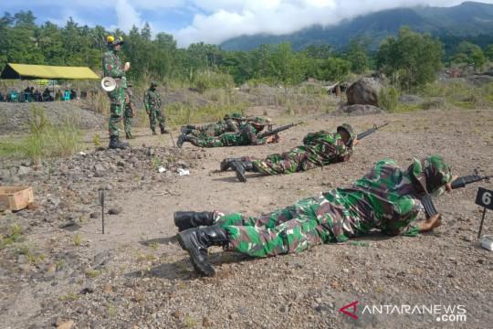 Komandan Kodim 1301 pimpin latihan menembak prajurit Kodim Sangihe