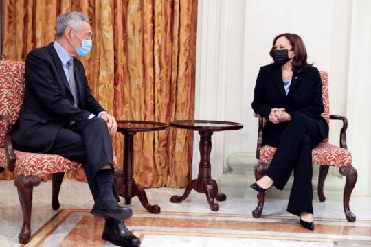 Pertemuan bilateral PM Singapura dan Wapres AS di Singapura