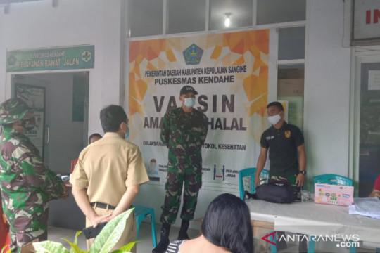 Komandan Kodim Sangihe tinjau serbuan vaksinasi di Kecamatan Kendahe