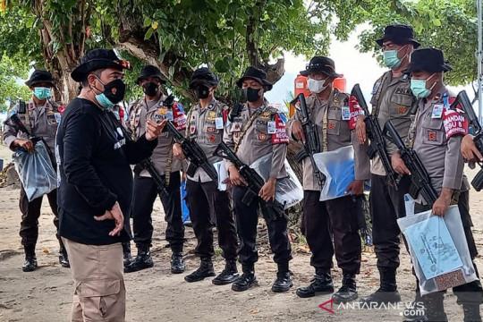 FPU Garuda Bhayangkara Polri menuju pembaretan di Tegal Mas Lampung