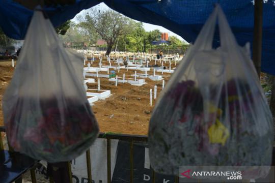 Pemakaman khusus COVID-19 di Macanda Gowa penuh