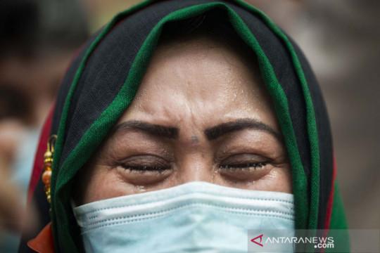 Pencari suaka asal Afghanistan berunjuk rasa di kantor perwakilan UNHCR Jakarta