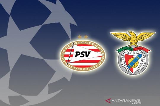 10 pemain Benfica imbangi PSV demi lolos ke fase grup Liga Champions