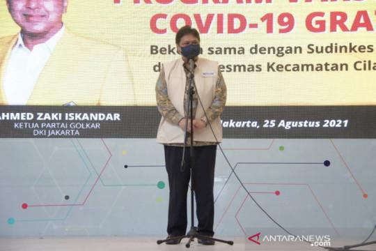"""Airlangga: Golkar konsisten bantu pemerintah bentuk """"herd immunity"""""""