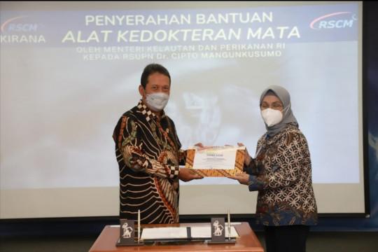 Menteri Trenggono hibahkan sejumlah alat kesehatan mata ke RSCM