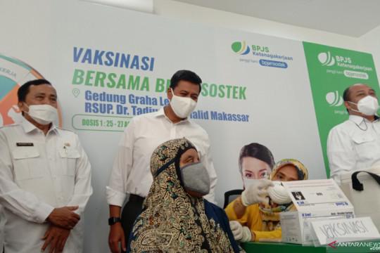 BPJAMSOSTEK gelar vaksinasi COVID-19 sasar 1.500 pekerja di Sulsel