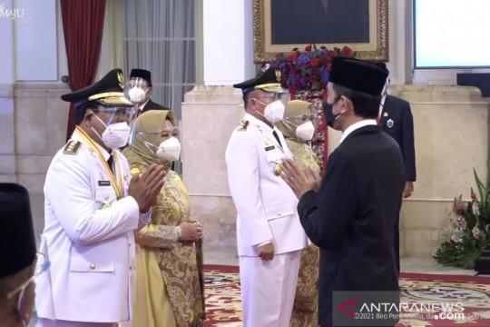 Presiden lantik Gubernur/Wakil Gubernur Kalimantan Selatan 2021-2024