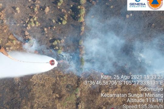 Empat hektare lahan di Ogan Ilir Sumsel terbakar lagi