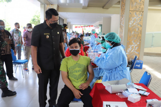 Capaian vaksinasi COVID-19 di Sleman berkisar 6.000 per hari
