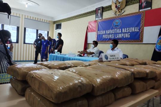 BNNP Lampung: 50 paket ganja yang digagalkan dikendalikan dari lapas