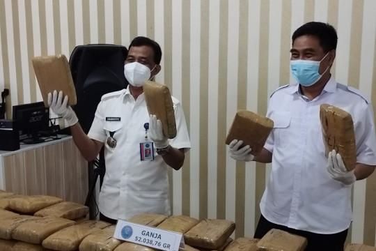 BNNP Lampung menggagalkan peredaran 50 paket ganja