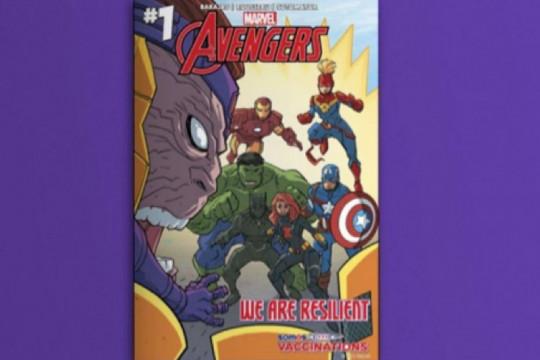 """Marvel kampanye vaksinasi lewat komik """"Avengers: We Are Resillent"""""""