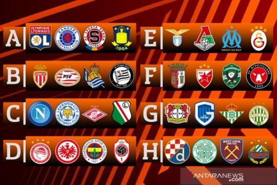 Hasil undian Liga Europa: Grup B panas ada Monaco, PSV dan Sociedad