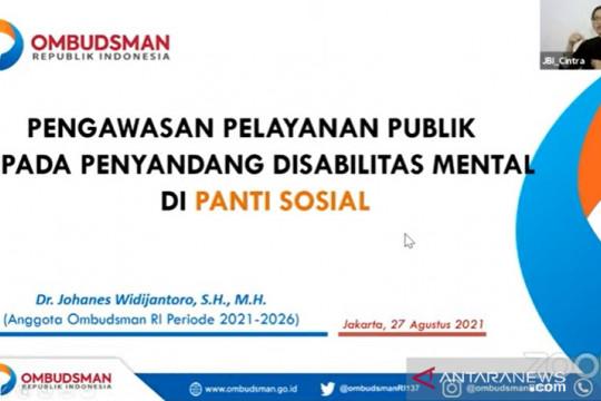 Ombudsman sebut panti penyandang disabilitas mental perlu standar baku