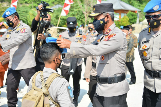 Pembaretan Satgas FPU 3 MINUSCA di Pulau Tegal Mas Lampung