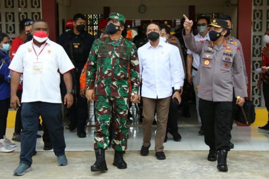 Tinjau venue PON XX Papua, Kapolri pastikan pengamanan dan prokes