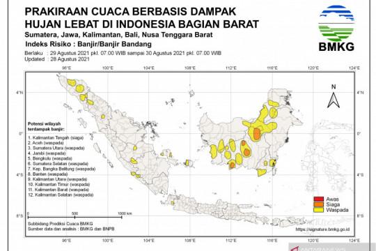 Sejumlah wilayah Indonesia hadapi potensi hujan lebat, risiko banjir