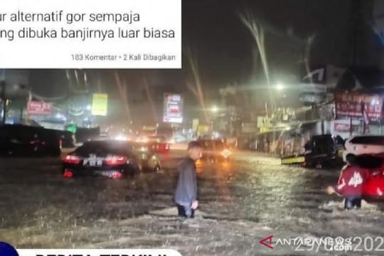 Sejumlah kawasan di Samarinda banjir akibat hujan deras