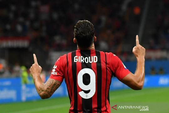 Giroud buka tabungan gol kala bantu Milan lahap Cagliari 4-1