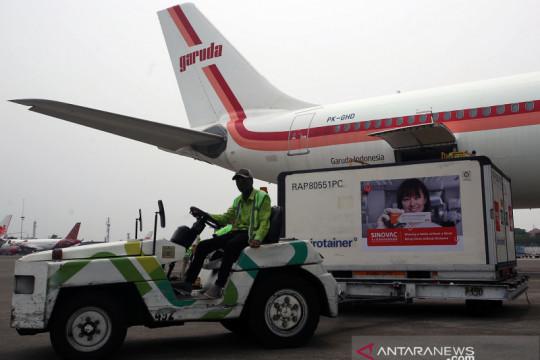 9,2 juta vaksin Sinovac tiba di Indonesia