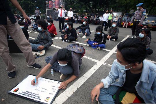 Polisi berikan penyuluhan di sekolah cegah tawuran antarpelajar