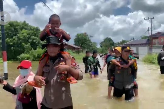 Tujuh kecamatan 84 desa di Katingan diterjang banjir