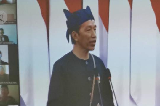 Bupati Pandeglang bangga pakaian adat Badui dikenakan Presiden