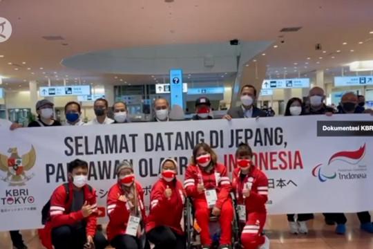 Kloter terakhir kontingen Indonesia tiba Tokyo