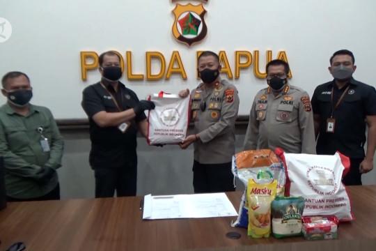 Polda Papua terima 3.000 paket sembako bantuan Presiden