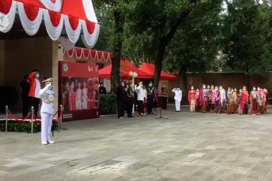 Upacara hari kemerdekaan RI di Beijing