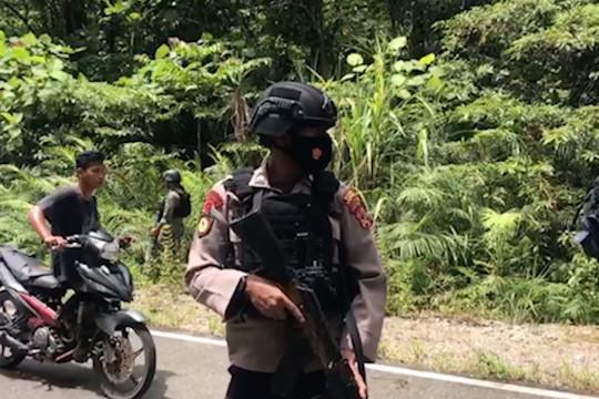 Kontak senjata di Yahukimo, empat anggota Satgas Nemangkawi terluka