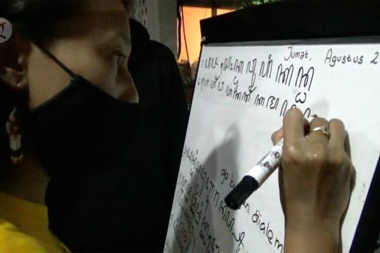 Menggali khazanah peradaban lampau dengan aksara Jawa