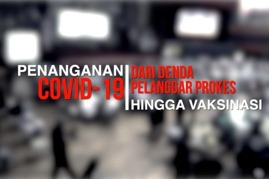 PENANGANAN COVID-19, DARI DENDA PELANGGAR PROKES HINGGA VAKSINASI