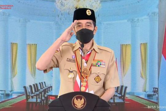 Pesan khusus Presiden Jokowi di Hari Pramuka ke-60
