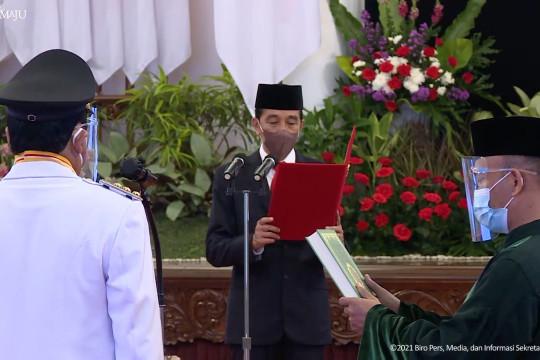 Presiden lantik Gubernur dan Wagub Kalsel 2021-2024