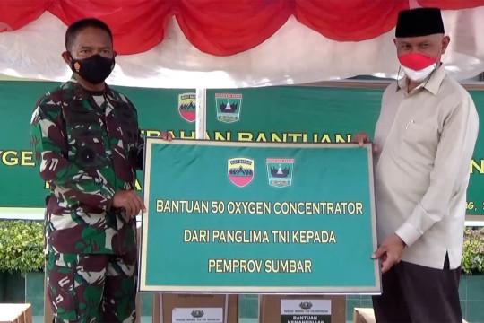 Pangdam I/BB salurkan bantuan konsentrator oksigen ke Sumbar