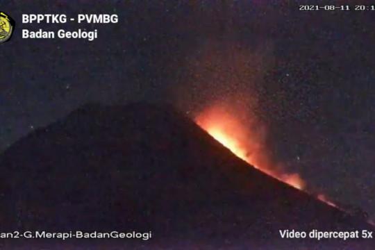 Gunung Merapi masuki fase ekstrusi